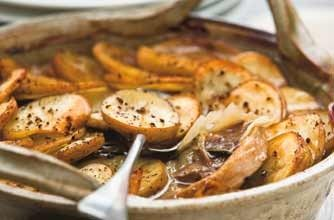 Lancashire Hot Pot, can use diced cooked lamb or chops.