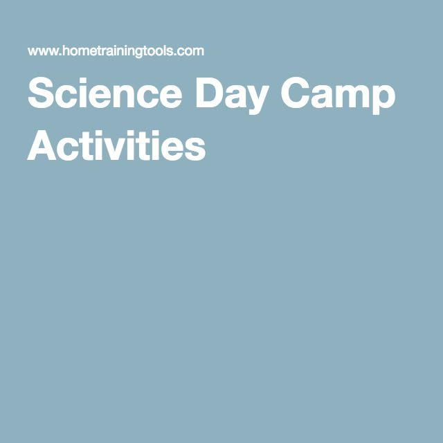 Science Day Camp Activities