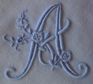 Monogram A.  Beautiful blog!