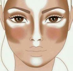 #Contouring #Highlighting #Baking #Maquillaje #BeautyTips