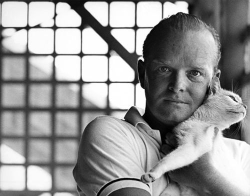 Truman Capote. Truly gifted writer, alcoholic and cat lover.