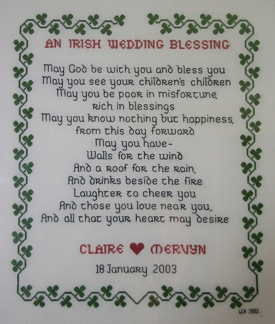irish wedding blessing.. feel like this is a must to be read!!