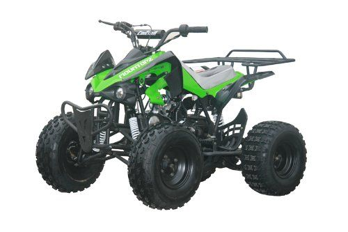 """125cc Sports ATV 8"""" Tires with Reverse, Green. For product info go to:  https://www.caraccessoriesonlinemarket.com/125cc-sports-atv-8-tires-with-reverse-green/"""