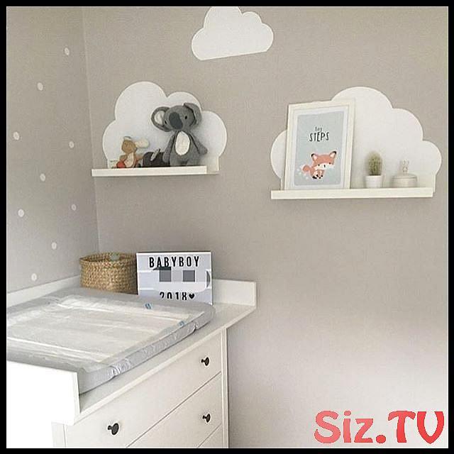 Stickers muraux Clouds pour rail photo IKEA – Blanc, #Chemise murale pour salle de bébé #Image Wall …
