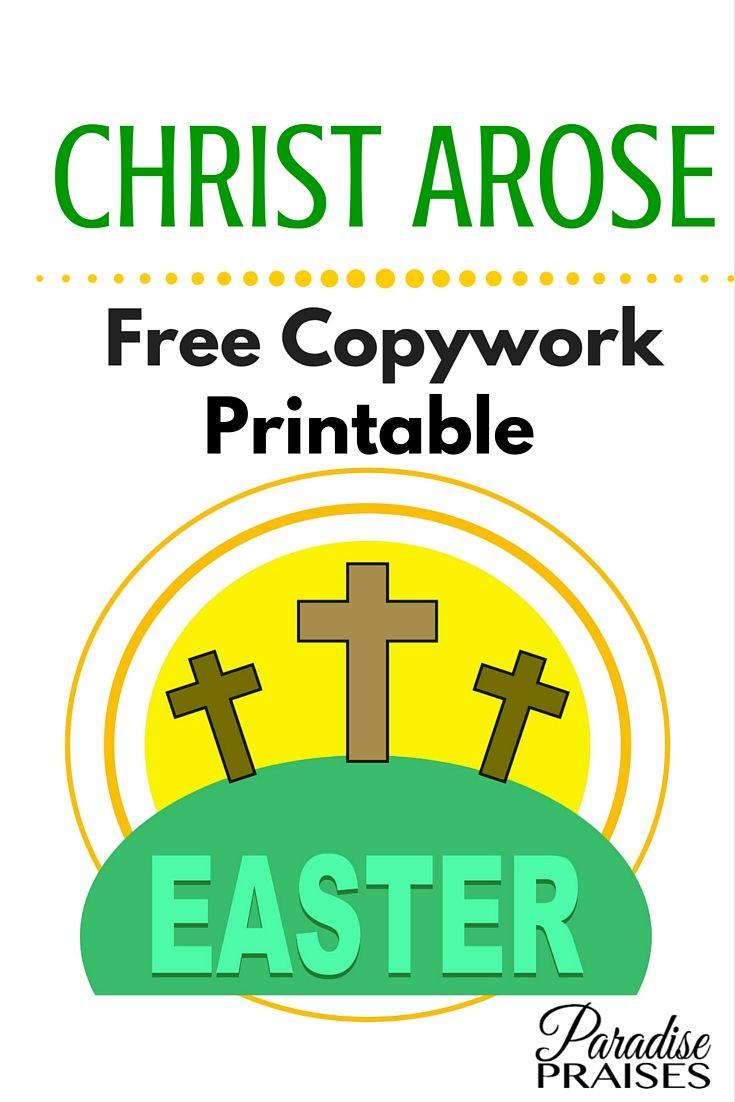 christ arose copywork printable