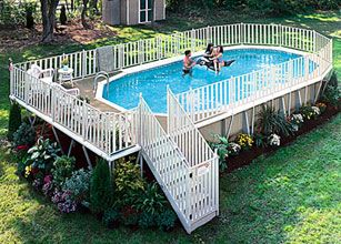 Luxury Backyard Swimming Poolsoval Above Ground Pool Deck best 25+ oval pool ideas only on pinterest   oval above ground