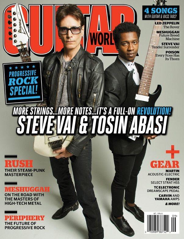 Guitar World - Sept - 12  Steve Vai & Tosin Abasi: