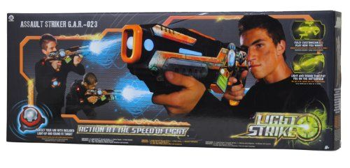 My Game Shop: Games: Wowwee Light Strike Assault Striker With Simple Target - Orange