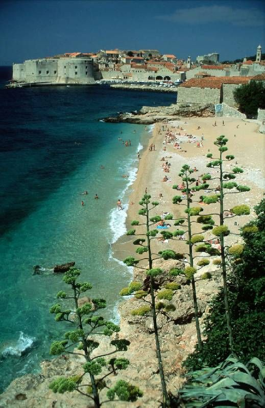 Beach Banje, Dubrovnik Old Town, Croatia