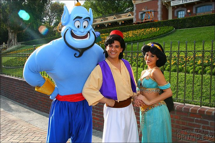walt disney world characters | ... the genie princess jasmine, Aladdin and the genie