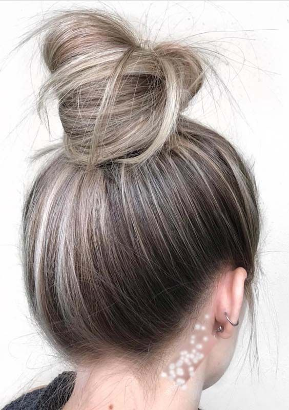 60 Easy \u0026 Best Top Knot Blonde Balayage Bun Styles for 2018