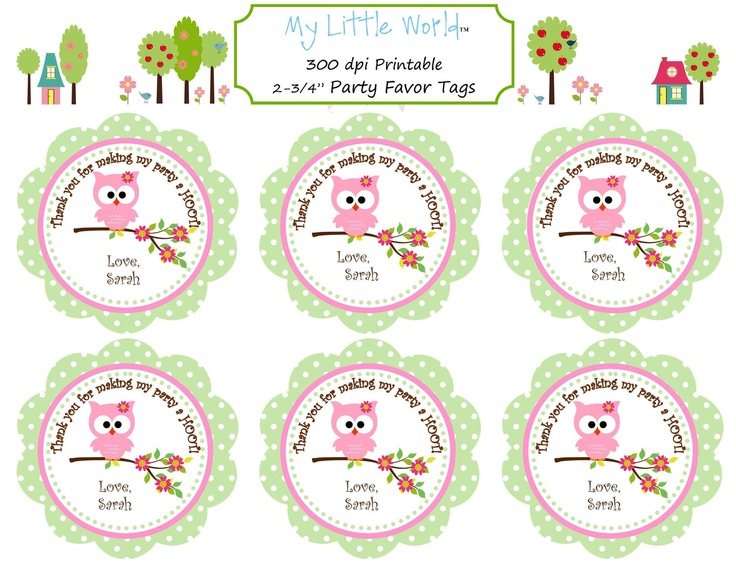Owl Birthday Decoration Package for girls birthday or baby shower, DIY PRINTABLE you get 8 items. $25.00, via Etsy.