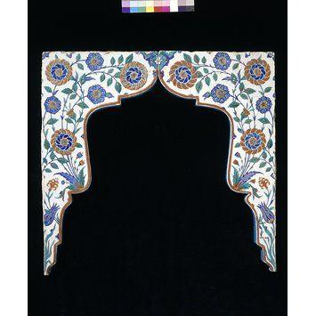 Spandrel tiles, Iznik, Turkey   V&A Search the Collections