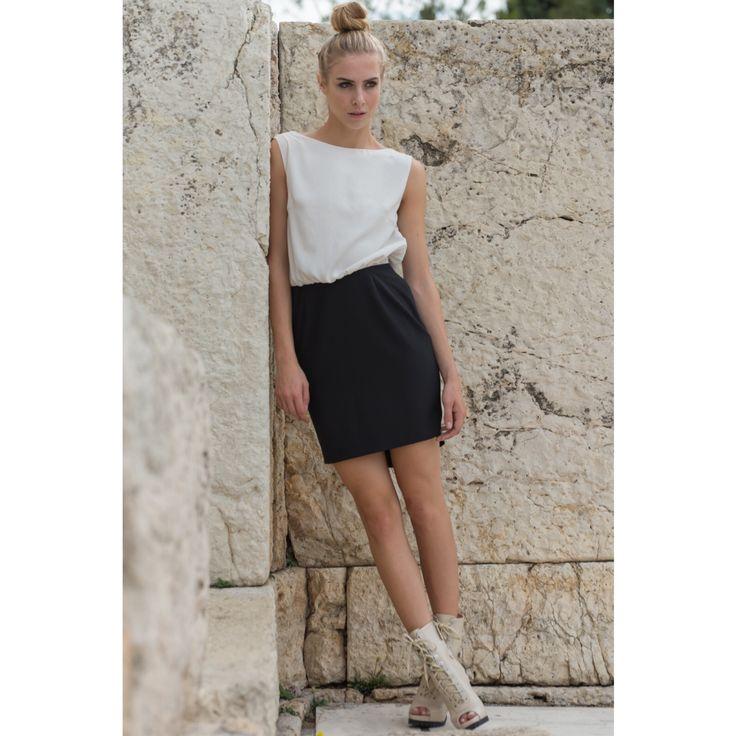 By nadia rapti , black & white dress