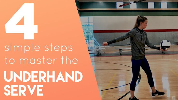 how to serve a volleyball underhand
