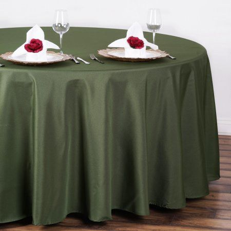"BalsaCircle 108"" Round Polyester Tablecloth Wedding Table Linens"