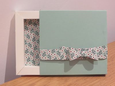 Shadow Frame Gift Box Video Tutorial using Stampin' Up UK products.