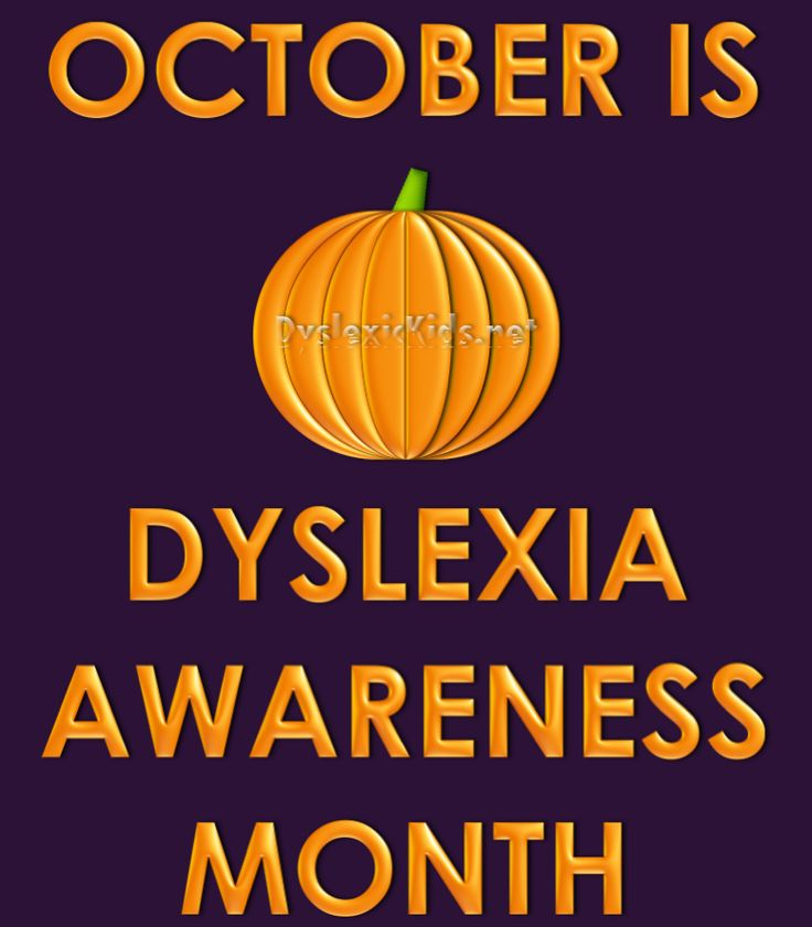 October is Dyslexia Awareness Month!  What are you doing to raise awareness?