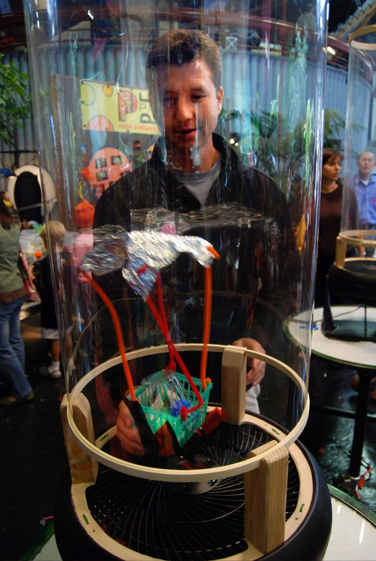 DIY wind tunnel at the exploratorium