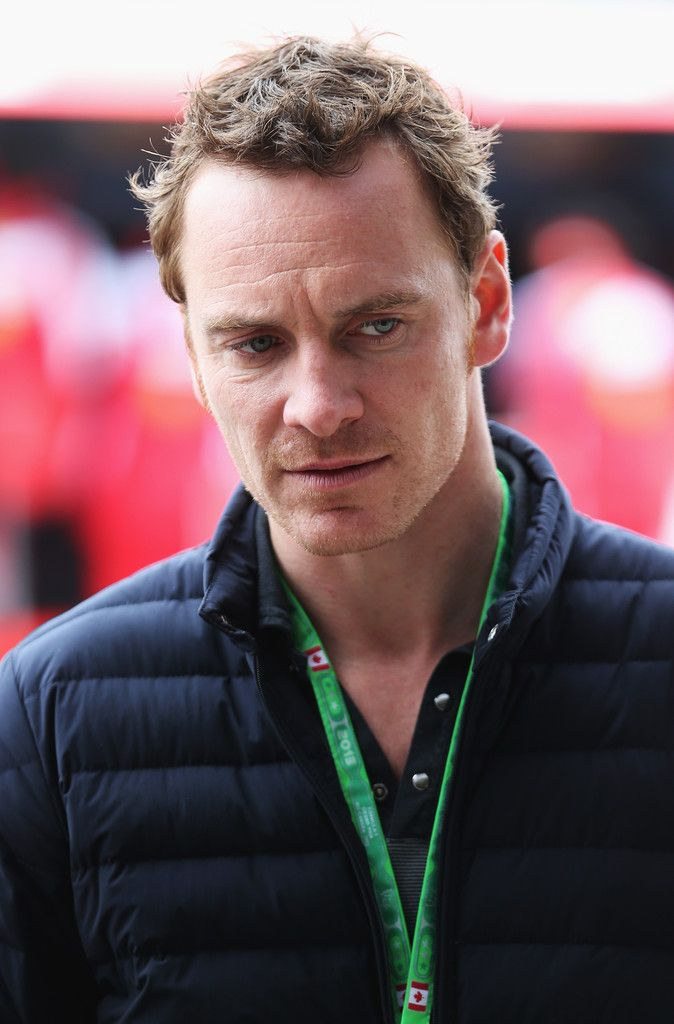 Michael Fassbender at the Canadian F1 Grand Prix Qualifying