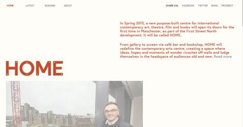 HOME Manchester is a clean site of inspiration having responsive layout, nice jquery work along with combination of red color. http://minimalistgallery.com/