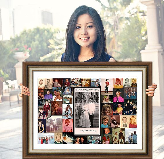 Anniversary Gift for Parents. Wedding anniversary photo collage