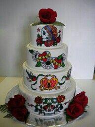 Best Cake Rockabilly Images On Pinterest Tattoo Cake - Rockabilly birthday cake