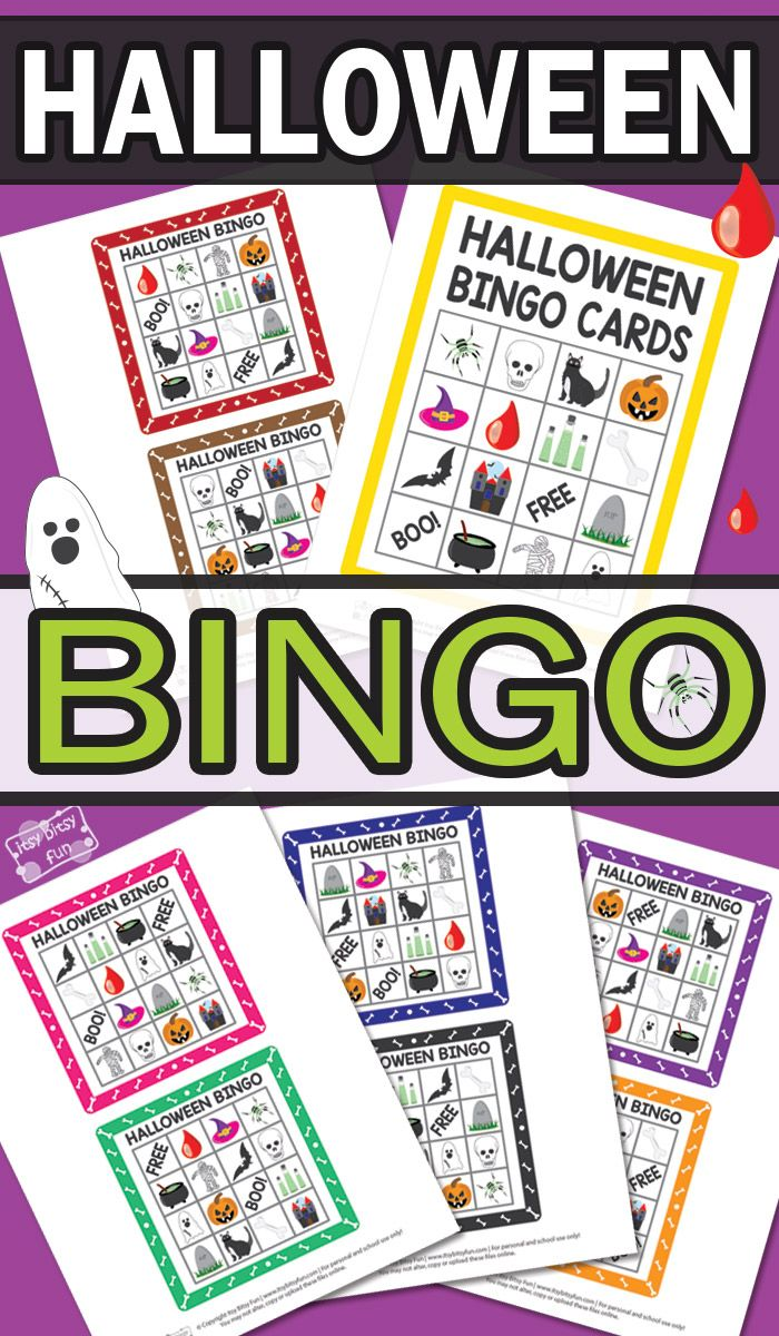 Free Printable Halloween Bingo Cards for Kids