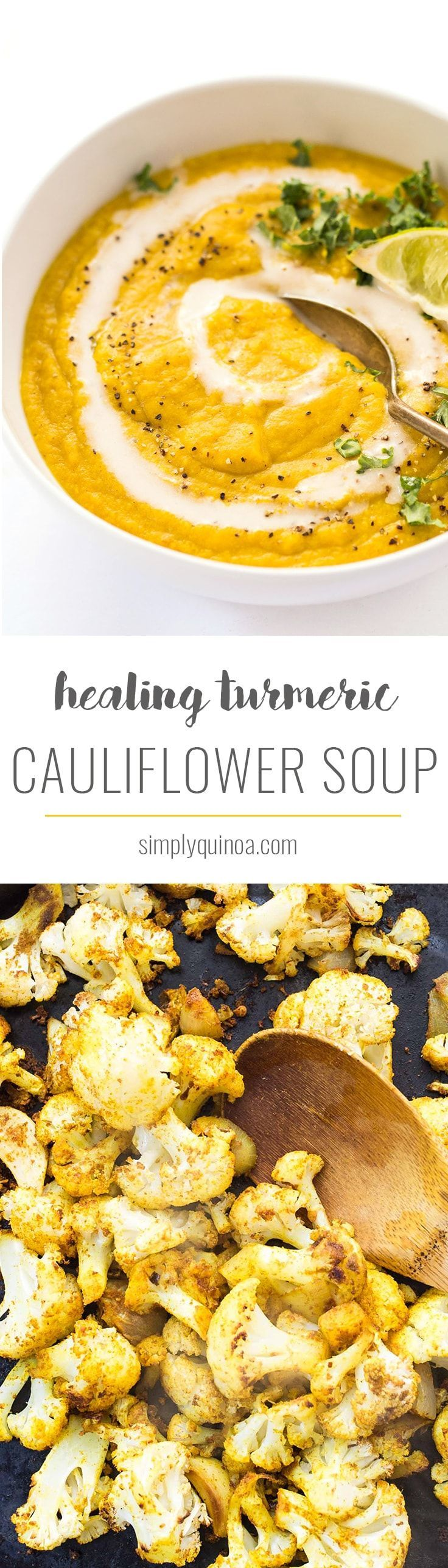 This healing Turmeric Cauliflower Soup is easy to make, packed with nutrients and SO flavorful!