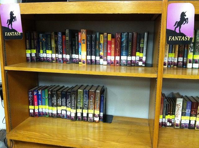 Fiction Has Been Genrefied. Match book genre labels to shelf labels