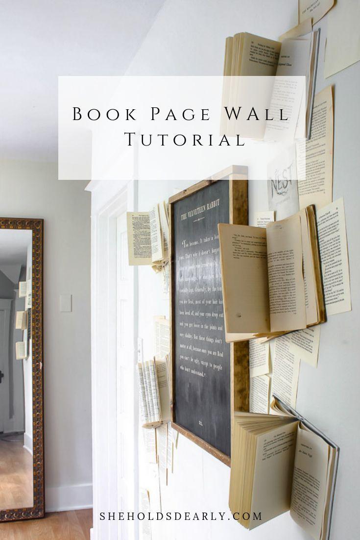 book page wall tutorial bhg s best home decor inspiration rh pinterest com