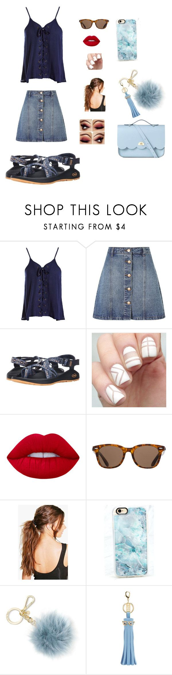 """""""AU Game Day Outfit for Saturday"""" by bethanyhuckabee on Polyvore featuring Sans Souci, Anita & Green, Chaco, Lime Crime, ToyShades, Boohoo, Casetify, Michael Kors, Sophie Hulme and The Cambridge Satchel Company"""