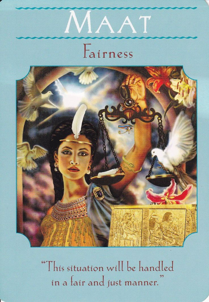 Goddess Guidance Oracle Card Maat Maat Is The Egyptian