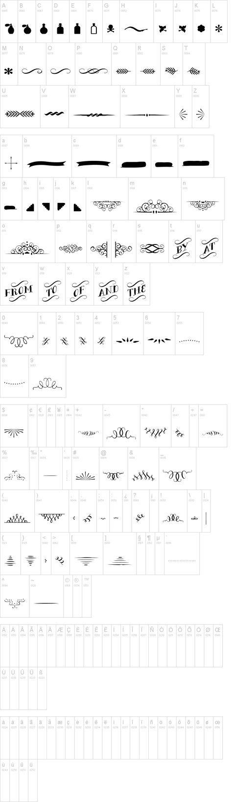 Free font ☺:Bergamot Ornaments