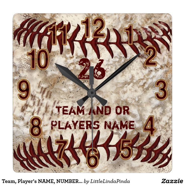 Personalized Baseball Senior Night Gifts for guys with YOUR TEXT. Cool Dirty look Baseball Wall Clocks CLICK: https://www.zazzle.com/z/39jet Dirty baseball clock will be a cool addition to his baseball themed bedroom decor and great for baseball man cave gifts for dad. More personalized baseball gift ideas HERE: http://www.zazzle.com/littlelindapinda/gifts?cg=196071813227233227&rf=238147997806552929 Personalized Senior Night Baseball Gifts for boys, teenagers and men. Baseball Team Gifts.