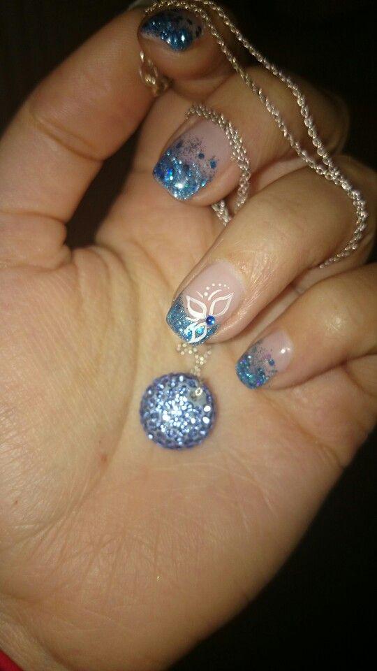 Blå glitter