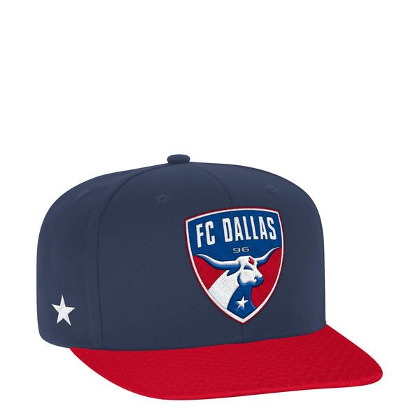 competitive price ba5a2 d6f08 ... get mens fc dallas adidas navy red jersey hook flatbrim snapback  adjustable hat your price 763fc