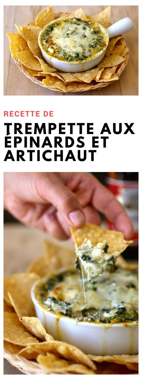 #trempette #épinards #artichaut