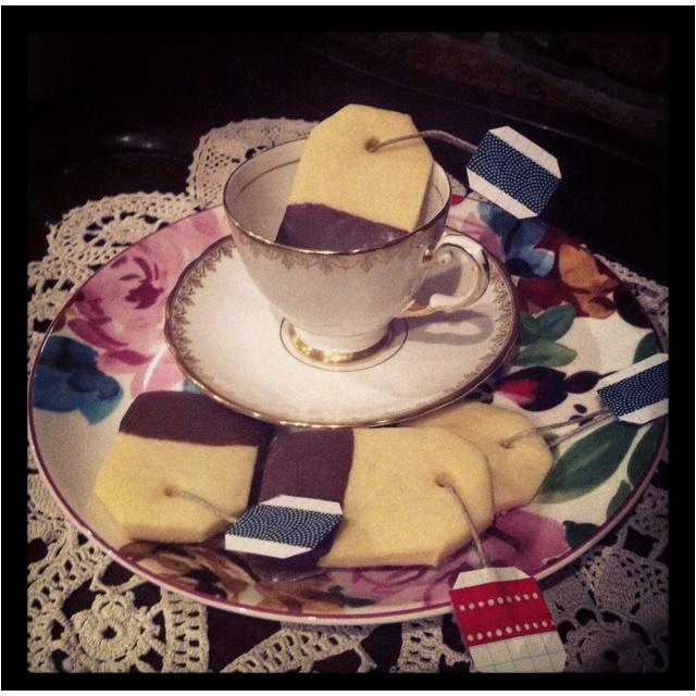 Tea cookies yum!!