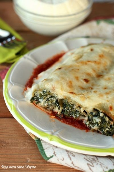 Cannelloni ricotta e spinaci ,Oggi cucina nonna Virginia