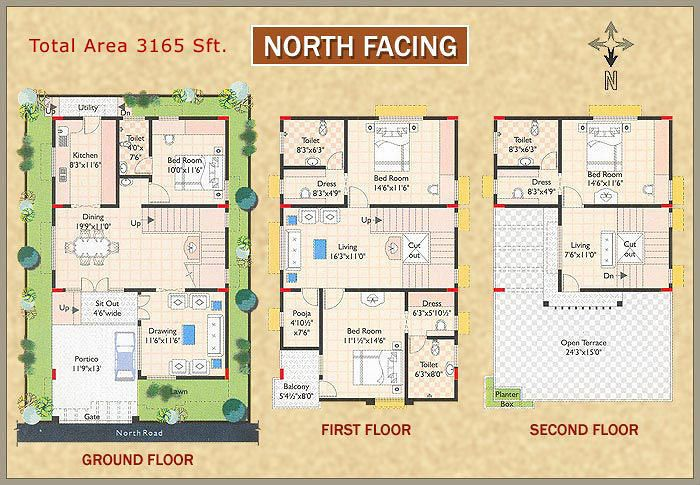 House Plan For North Facing House According To Vastu In 2019