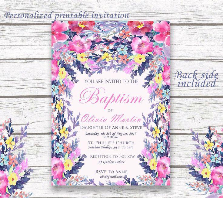 78+ ideas about Baptism Invitations Girl on Pinterest | Baptism ...