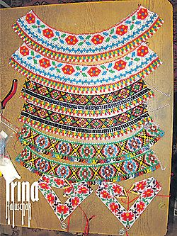 sead bead, beaded necklace, beadwork, beading, Ukraine. http://irina-haluschak.blogspot.com/