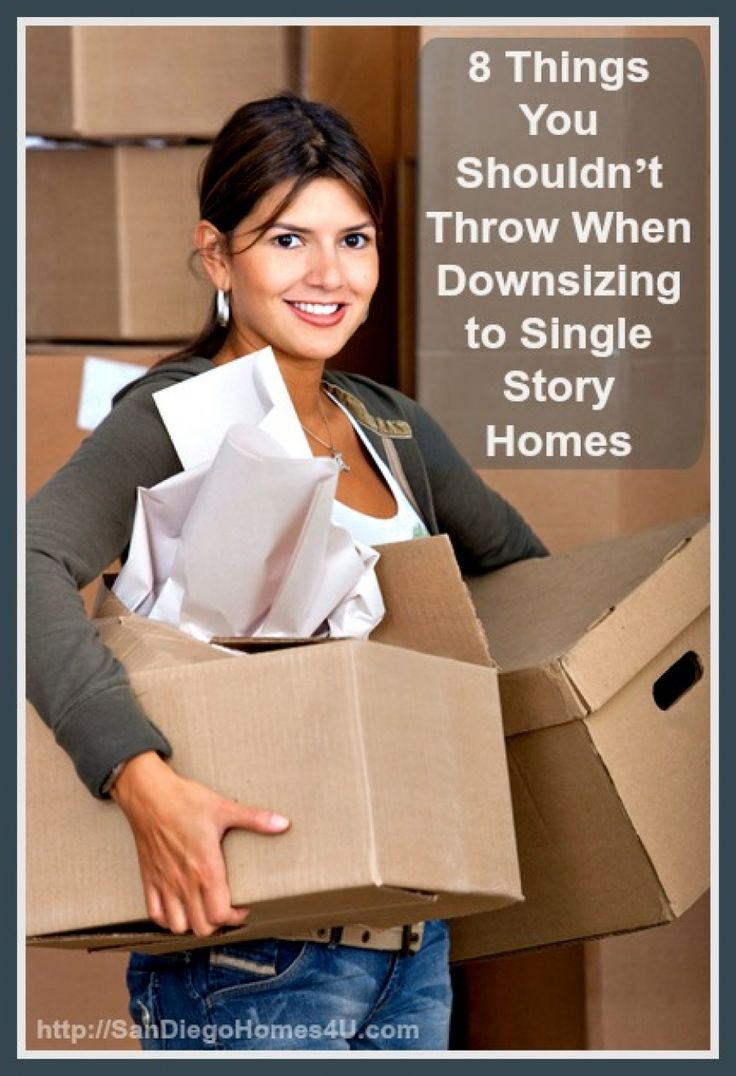8 Things You Shouldn't Throw When Downsizing to Single Story Homes
