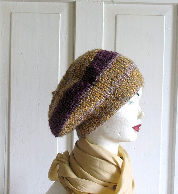 Knitted Slouchy  Bret Oversized Lavender & by recyclingroom, $25.00