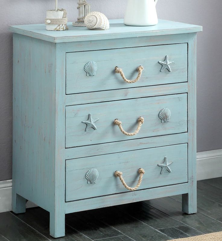 Rustic Dresser Designed for a Beach Enthusiast