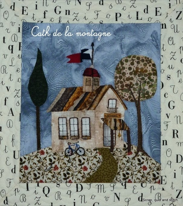 This blog has lots of nice house and village quilt squares.