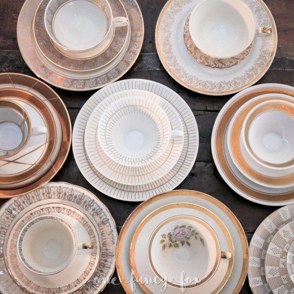 Die besten 17 Ideen zu Hochzeitsdeko Mieten auf Pinterest  ~ Geschirr Vintage