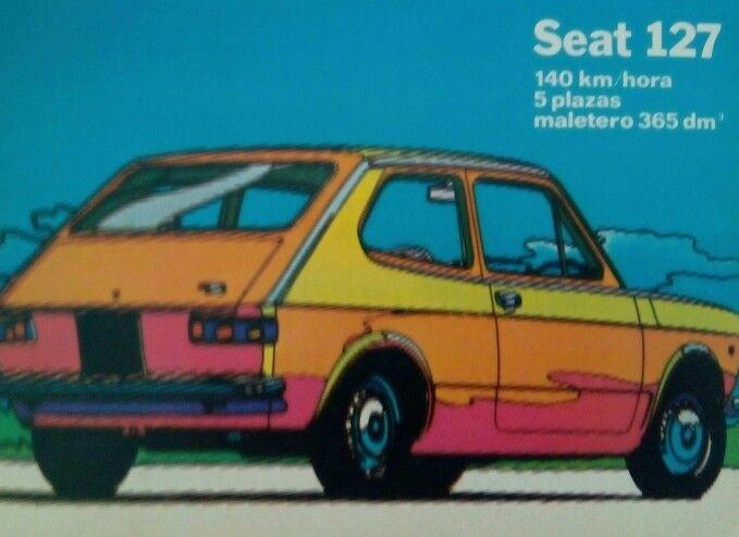 Hace más de 40 años que Seat hizo este anuncio que conservamos en el CDP. Llegó la psicodelia... y el tunning poligonero. #seat127 #publicidadantigua #vintage #ricardoperezcuidalapublicidad #tunning