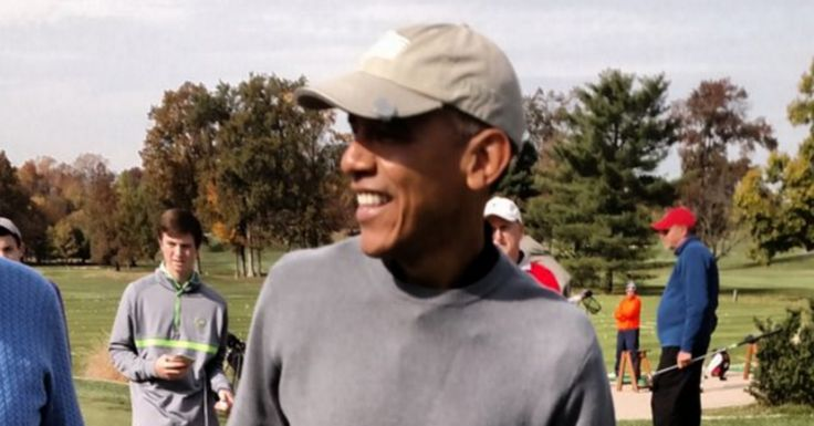 'Back to his real priorities': Obama the Great Uniter hits links with 'guy who called Tea Party ISIS'